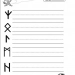 Rune Writing Practice Sheet