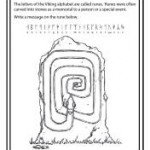 Rune stone printable worksheet