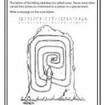 Rune stone printable worksheet