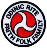 Odinic Rite Embroidered Sew-on Badge