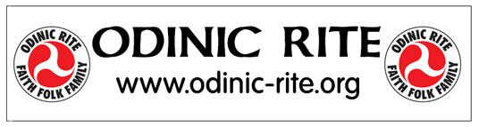 Odinic Rite Rectangular Sticker